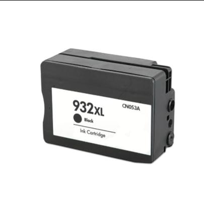 Cartouche rechargée HP 932XL / Noir / Rechargé / AVEC niveau d'encre affiché.