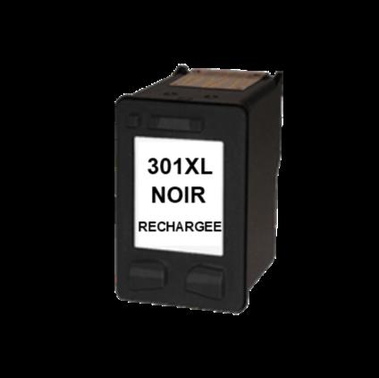 Cartouche rechargée HP 301XL /  Noir / Rechargé SCV