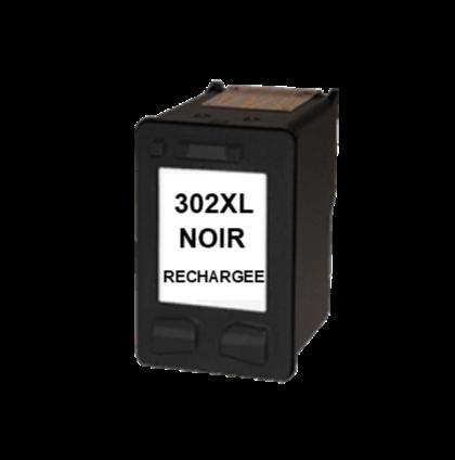 Cartouche rechargée HP 302XL /  Noir / Rechargé SCV