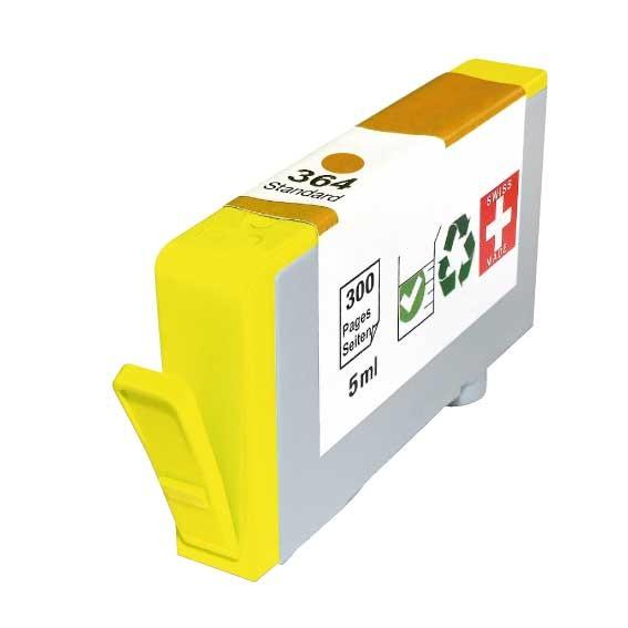 Cartouche rechargée HP 364 / Jaune / Rechargé SCV