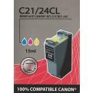 Cartouche compatible Canon BCI-21 / 3 Couleurs 16,5 ml