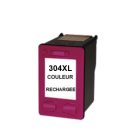 Cartouche rechargée HP 304XL /  Couleur / Rechargé