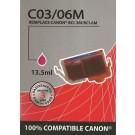 Cartouche compatible Canon BCI-6 / Magenta 15 ml