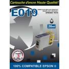 Cartouche compatible Epson T019 / Noir 24ml