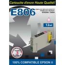 Cartouche compatible Epson T0806 / Photo Magenta 12 ml